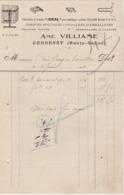 Petite Facture 1928 / Amé VILLIAME / Fabrique Tendeurs Pour Emballages, Pointes Pour Clôtures, Agrafes / 70 Corbenay - France