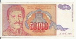 YOUGOSLAVIE 50000 DINARA 1994 VF P 142 - Joegoslavië