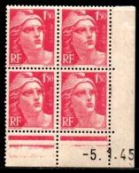 Coin Daté Gandon N° 712 Du 5/1/1945 ** - 1940-1949