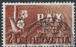 Schweiz Suisse PAX 1945 (2 Fr): Zu 271 Mi 456 Yv 414 Mit O NETSTAL 4.VIII.45 (Zumstein CHF 250.00) Start Zu 3% ! - Suisse