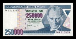 Turquia Turkey 250000 Lira L. 1970 (1998) Pick 211 SC UNC - Turquia