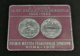 ROMA 1952  De Silva Milano   OLIMPICS   OLIMPIADI  OLIMPIQUE   ERINNOFILO  ERINNOPHILIE    Envelope CINDERELLA - Sommer 1952: Helsinki