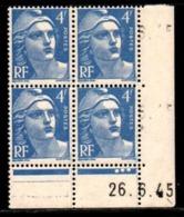 Coin Daté Gandon N° 717 Du 26/6/1945 ** - 1940-1949