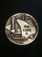 Médaille En Bronze Argenté Comité Des Fêtes Le Havre La Proue Du Paquebot FRANCE - Frankreich