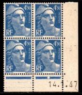 Coin Daté Gandon N° 718A Du 14/1/1947 ** - 1940-1949