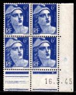 Coin Daté Gandon N° 720 Du 16/5/1945 ** - 1940-1949