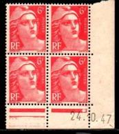 Coin Daté Gandon N° 721A Du 24/10/1947 ** - 1940-1949