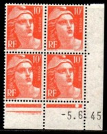 Coin Daté Gandon N° 722 Du 5/6/1945 ** - 1940-1949