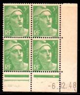 Coin Daté Gandon N° 809 Du 6/12/1948 ** - 1940-1949