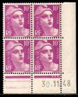 Coin Daté Gandon N° 811 Du 30/11/1948 ** - 1940-1949