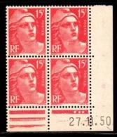Coin Daté Gandon N° 813 Du 27/11/1950 ** - 1950-1959