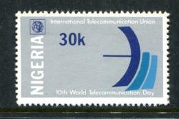 Nigeria 1978 Tenth World Telecommunications Day MNH (SG 380) - Nigeria (1961-...)