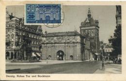 48937 Danzig (freie Stadt Danzig) Maximum 16.1.1937 ? Showing He Hohes Tor  In Danzig,  (mi-266) Architecture,RR - Brieven En Documenten