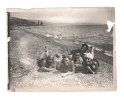 1536 Crimea Soviet Russia  Friends Man And Lady Swimsuit 1930s Black Sea - Persone Anonimi