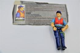 Vintage ACTION FIGURE GI JOE : CUTTER[hovercraft Pilot] With Card- Original Hasbro 1984 - Hasbro - GI JOE - Action Man