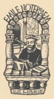Ex Libris Emile Noterdaem (Nostradamus) 1955 - Harry Corvers (1913-1982) - Ex Libris