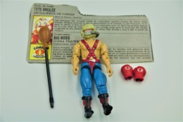 Vintage ACTION FIGURE GI JOE : BIG BOA [Cobra Trainer] With Accessories And Card- Original 1987 - Hasbro - GI JOE - Action Man