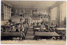 * NERCILLAC , L' Ecole Des Garçons , Vue Intérieur , CPA ANIMEE , Années 1914-1915 - France