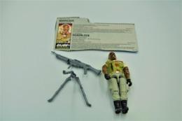 Vintage ACTION FIGURE GI JOE : ROADBLOCK [Heavy Machine Gunner] With Accessories And Card - Original 1987 - Hasbro - - Action Man
