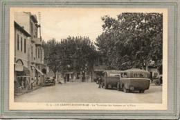 CPA - Le CANNET-ROCHEVILLE (06) - Aspect Du Terminus Des Autocars Et De La Place En 1936 - Le Cannet