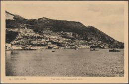 The Town From Commercial Mole, Gibraltar, C.1920s - Benzaquen Postcard - Gibraltar