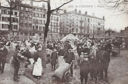 42)  SAINT ETIENNE  - Place Chavanelle  (  Marché  ) - Saint Etienne