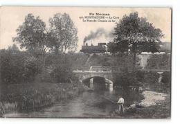 CPA 58 Montsauche Le Pont De Chemin De Fer Et Le Train Tramway - Montsauche Les Settons
