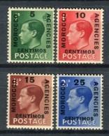 Marruecos Oficina Inglesa 1936. Yvert 66-69  ** MNH. - Oficinas En  Marruecos / Tanger : (...-1958