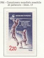 PIA - FRA - 1986 : Campionato Mondiale Maschile Di Pallavolo  - (Yv 2420) - Pallavolo