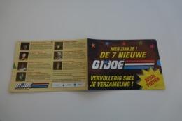 Vintage ACTION FIGURE GI JOE : BOOKLET BROCHURE CATALOG :  7 NEW CHARACTERS PART 3 - Original 1991 - Hasbro - Action Man