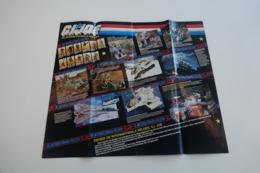 Vintage ACTION FIGURE GI JOE : BOOKLET BROCHURE CATALOG :  POSTER Cobra Enemy - Original 1985 - Hasbro - Action Man