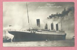 """Paquebot -  """" TITANIC """" - Der Gesunkene Oceandampfer - La Carte A Voyagée Le 11 Septembre 1912 - 2 Scans - Piroscafi"""