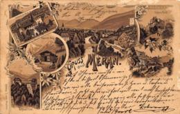 GRUSS Aus MERAN ITALY ~ 1898 OTTMAR ZIEHER MULTI IMAGE PHOTO POSTCARD 42325 - Merano