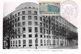 1945 .carte Maximum .france .102177 . Ministere Des Ptt .cachet Paris . - Cartas Máxima