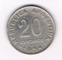 20 CENTAVOS 1954 ARGENTINIE /8485/ - Argentinië