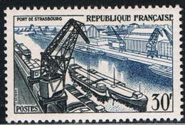 FRANCE : N° 1080 ** (Port De Strasbourg) - PRIX : 4,95 € Soit 30 % De La Cote - - Francia