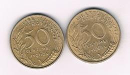 50 CENTIMES 1962+1963 FRANKRIJK /8490/ - France