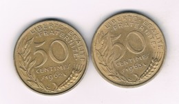 50 CENTIMES 1962+1963 FRANKRIJK /8490/ - G. 50 Centimes