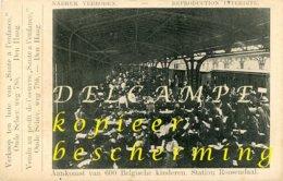 Roosendaal Station (Noord-Brabant) - Aankomst Van 600 Belgische Kinderen I.d. Eerste Wereldoorlog (1914-1916) Steunkaart - Roosendaal