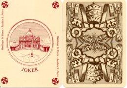 JOKER -@@@@@@@ Basilique ST PIERRE - Basilica S. PIETRO Couronne Carte à Jouer Cartes à Jouer (604) - Cartes à Jouer
