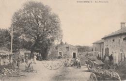 BOUCONVILLE - LA RUE PRINCIPALE DU VILLAGE - CARTE TRES TRES ANIMEE - CHARRETTES - TOP !!! - Andere Gemeenten
