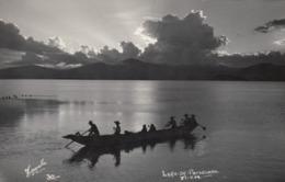 RP: Isla De Janitzio Y Lago De Patzcuaro , Mich. , Mexico , 30-40s ; Fishermen In Boat #2 - Mexico