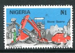 Nigeria 1986-98 Nigerian Life - 1n Stone Quarry MNH (SG 524) - Nigeria (1961-...)