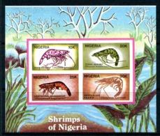 Nigeria 1988 Shrimps MS - ERROR - Imperf. MNH (SG MS564 Variety) - Nigeria (1961-...)