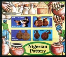 Nigeria 1990 Nigerian Pottery MS - ERROR - Imperf. MNH (SG MS592 Variety) - Nigeria (1961-...)