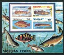 Nigeria 1991 Nigerian Fish MS - ERROR - Imperf. MNH (SG MS616 Variety) - Nigeria (1961-...)