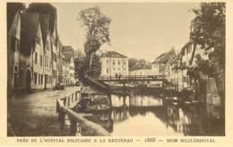 67 - LE STRASBOURG DISPARU - PRES DE L'HOPITAL MILITAIRE A LA KRUTENAU - 1868 - Strasbourg
