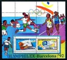Nigeria 1992 'Omphilex '92' Olympic Stamp Exhibition, Barcelona MS MNH (SG MS632) - Nigeria (1961-...)