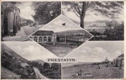 AP82 Prestatyn Multiview - 1930's Postcard - Denbighshire
