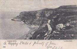 AP82 Marine Drive, Llandudno - Undivided Back Postcard - Caernarvonshire